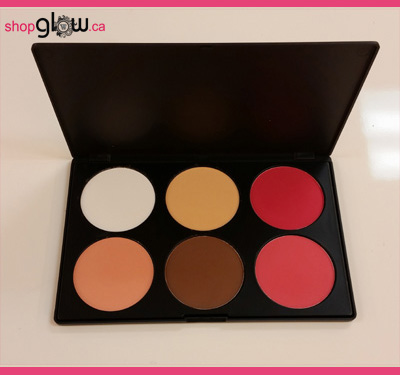GLOWETTE™ 6 Shade Blush and Contour (Large)