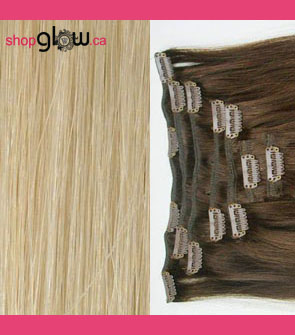 Ash Blonde Clip-In Hair