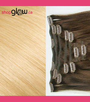 Bleach Blonde Clip-In Hair