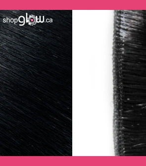 Jet Black Machine Weft Hair