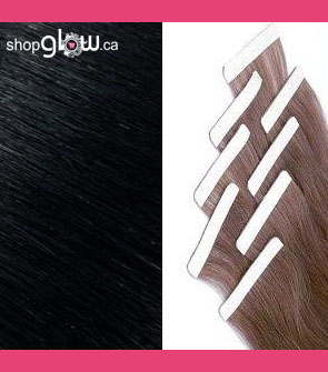 Jet Black Double Tape Hair