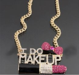 'I DO MAKEUP' Necklace